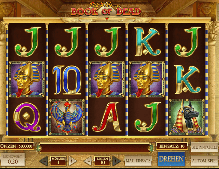 Book of osiris slot machine